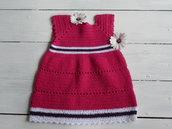 Vestito neonata fatto a mano