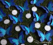 Biglietto di Battesimo per Bomboniera perzonalizzati a forma di Farfalla by Romanticards
