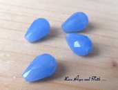 "LOTTO 10 perle teardrop ""celeste/pervinca"" (8x12mm)"