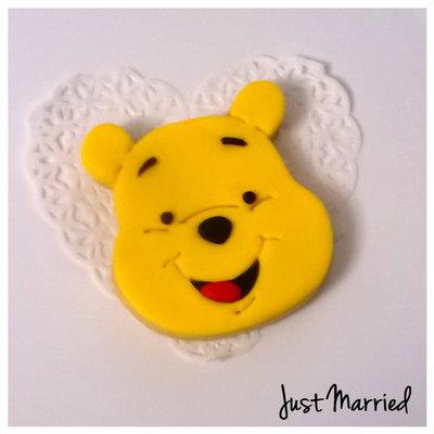 biscotto decorato a tema Winnie the Pooh