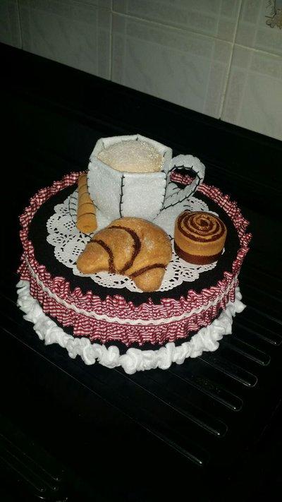 Portabiscotti con set colazione