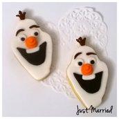 biscotti decorati a tema Frozen, Olaf