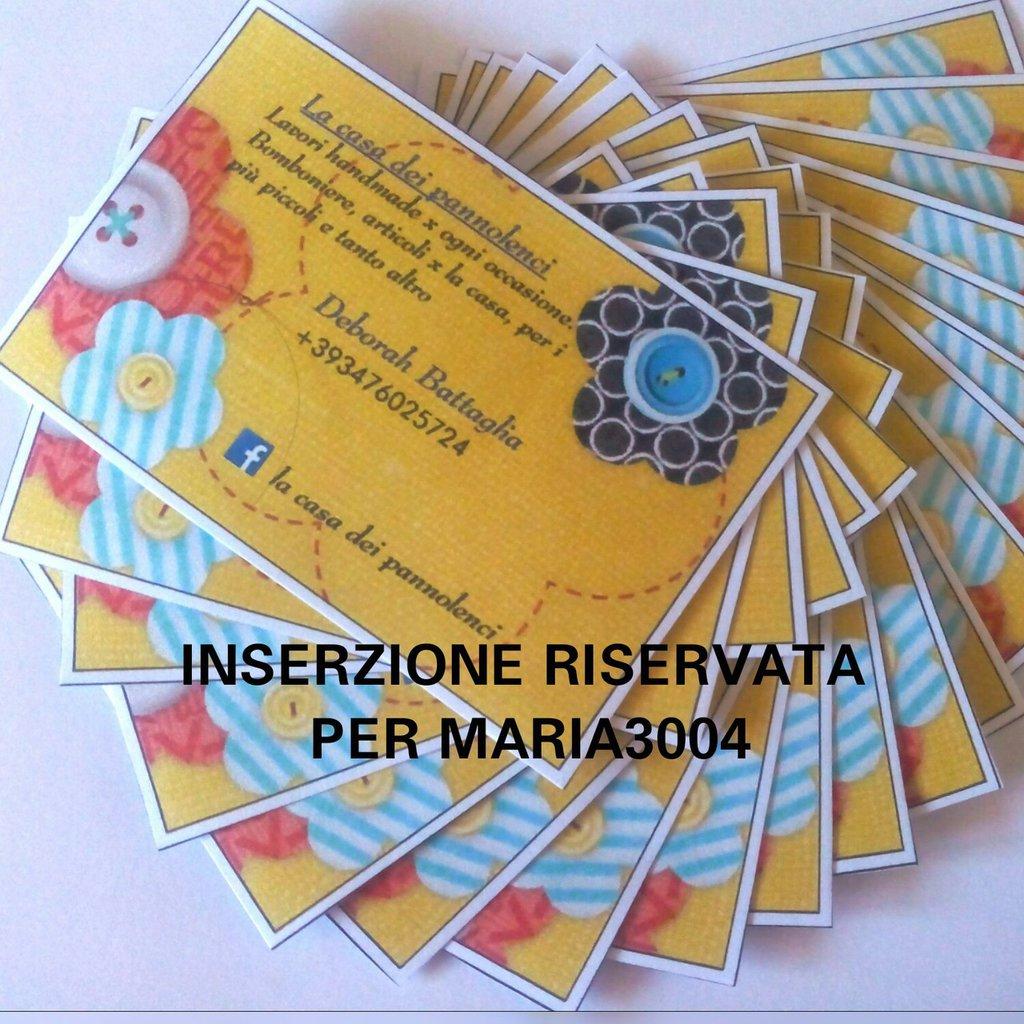 INSERZIONE RISERVATA PER MARIA3004