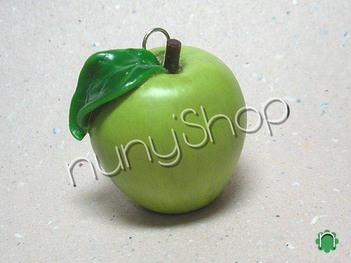 Ciondolo frutta - MELA VERDE