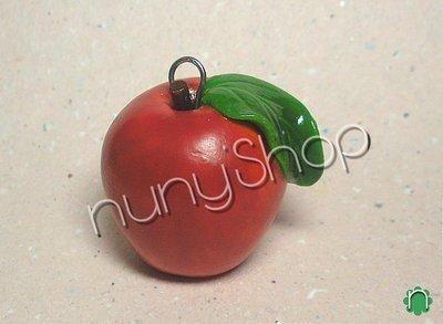 Ciondolo frutta - MELA ROSSA