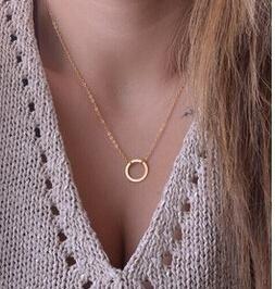 collana karma portafortuna idea regalo color oro molto elegante cerchio della vita