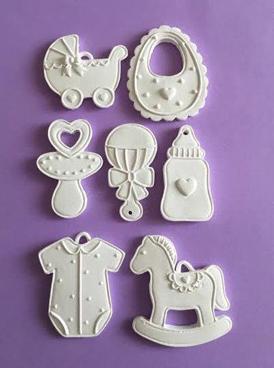 """7 Gessetti profumati in polvere ceramica """"accessori e giochi neonato"""""""