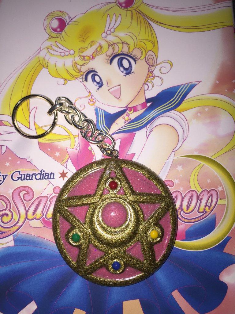 Cristallo d'argento Crystal Star Sailor Moon portachiavi