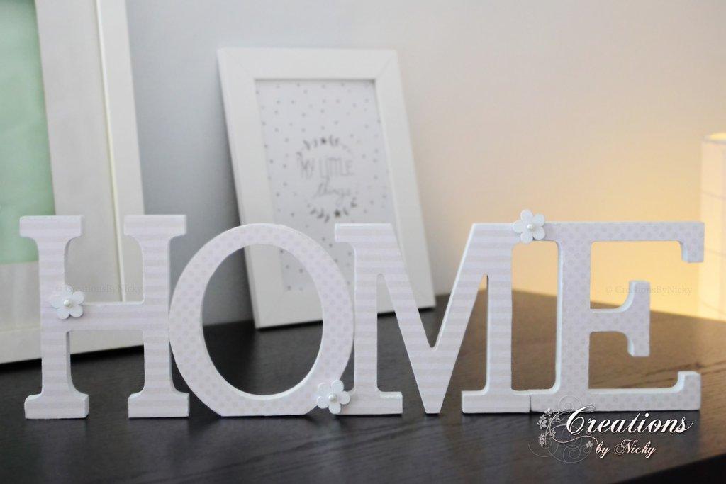 Scritta Home Decorativa