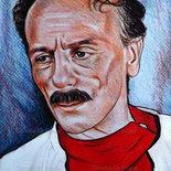 Ritratto Di Eduardo De Filippo pastelli
