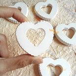 10 pz Gessetti Cuore  cuori per bomboniere segnaposto matrimonio