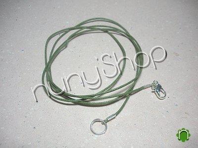 Laccetto verde per collana LUNGA