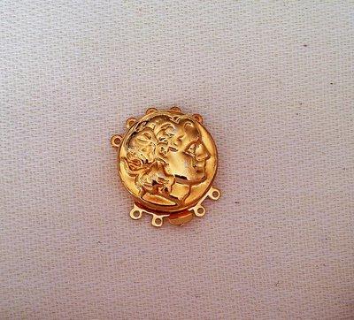 chiusura fermaglio per collana, bracciale, a 5 fili in metallo dorato