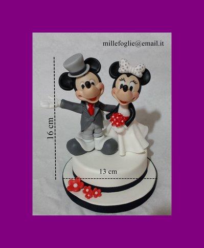 Cake Topper SPOSI in Porcellana Fredda(anche in pasta di zucchero,su richiesta)
