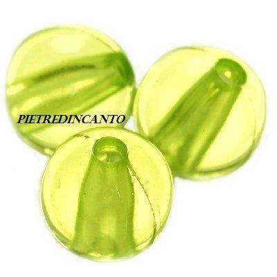 13 PEZZI sfere in plastica verdi 12 mm - 4797