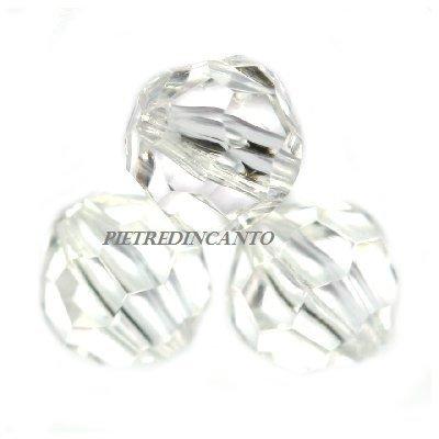 10 GRAMMI cristalli in plastica tondi trasparenti 6 mm - 4800