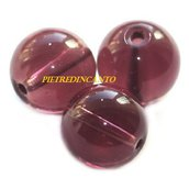 LOTTO 10 SFERE VIOLA 6mm - 3537