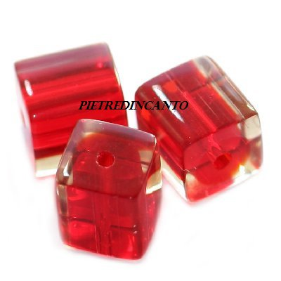 LOTTO 20 CUBI rossi 4X4mm Cod. 3576