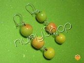 Orecchini frutta (pendenti) - Tris di mele