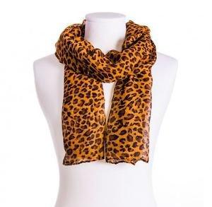 foulard leopardata marrone