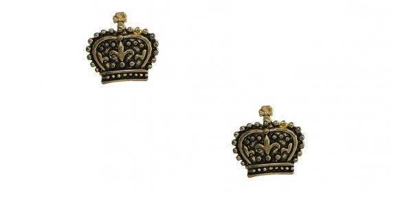 orecchini corona color oro