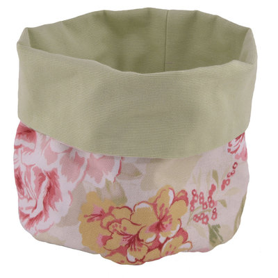 Sacchetto cotone portapane portaoggetti romantico