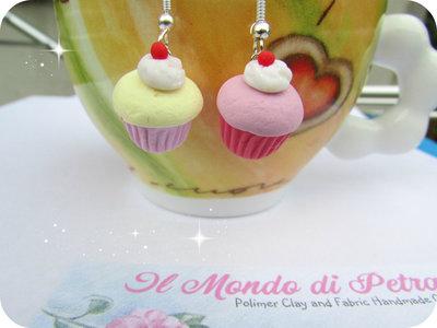 Orecchini Cupcakes in Fimo