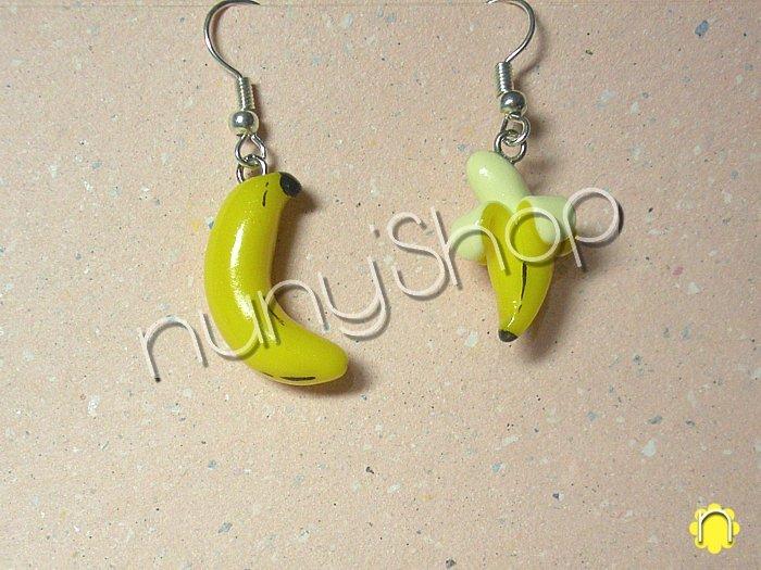 Orecchini frutta (pendenti) - Banane