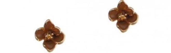 orecchini fiore marroni