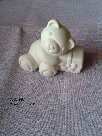 Orsetti di polvere di ceramica
