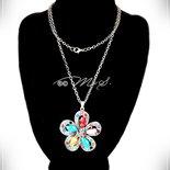 Collana Max Fiore con strass e pietra Howlite - Multicolor