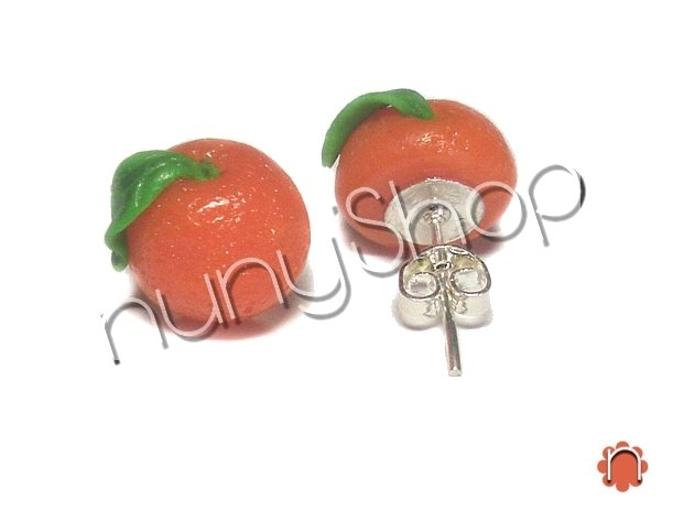 Orecchini frutta (perno) - ARANCIO