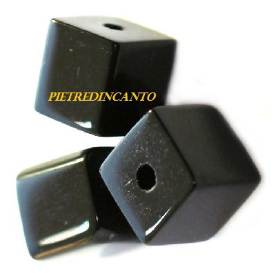 LOTTO 20 CUBI NERI 6X6mm Cod. 3582