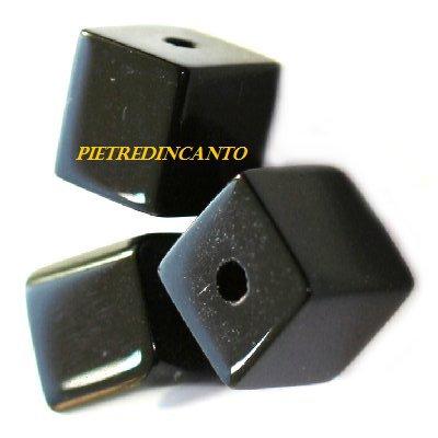 LOTTO 20 CUBI NERI 6X6mm Cod. 3582