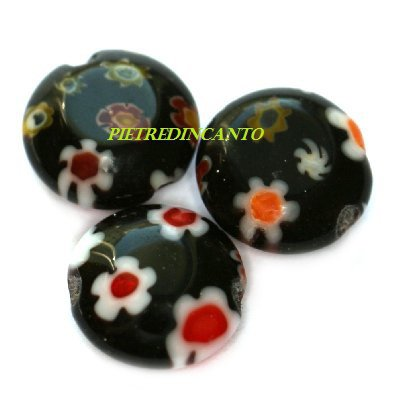 LOTTO 5 GETTONI MILLEFIORI NERO 8mm - 4448