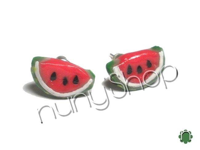 Orecchini frutta (perno) - ANGURIA (2)
