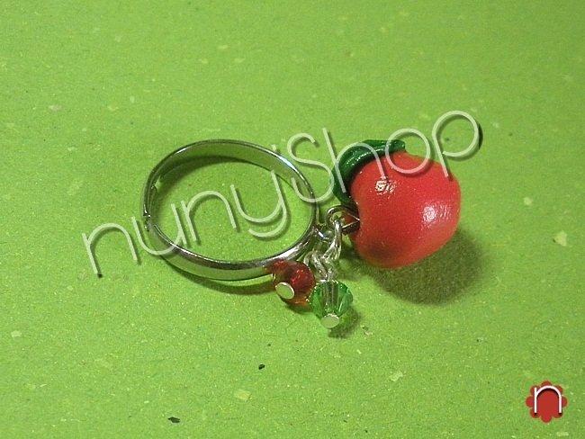 Anello frutta - MELA (charms)