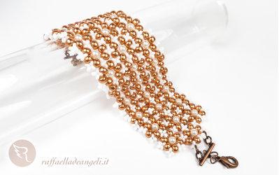 Bracciale rocailles e perle Boemia Petra 02