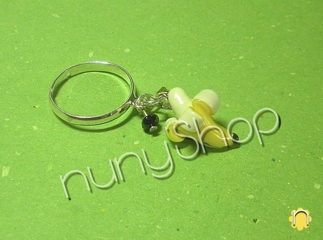 Anello frutta - BANANA (charms)