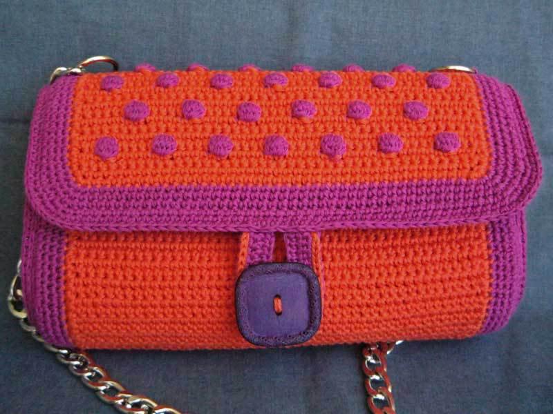 borsetta - pochette arancione e viola PRISCILLA 2
