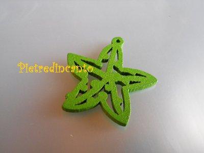 CIONDOLO STELLA IN LEGNO verde - DSCN9050