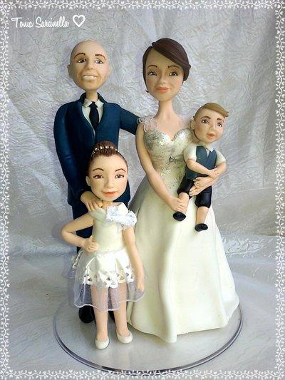 Cake topper sposi matrimonio caricature statuine Welling cake