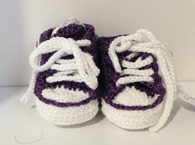 Scarpine neonato modello converse fatte a mano
