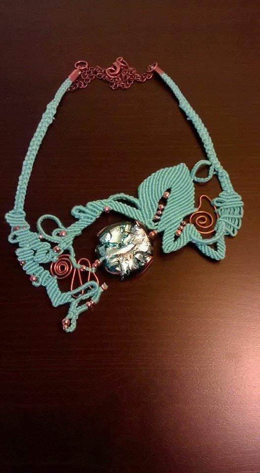 collana in macrame - Morgana 13