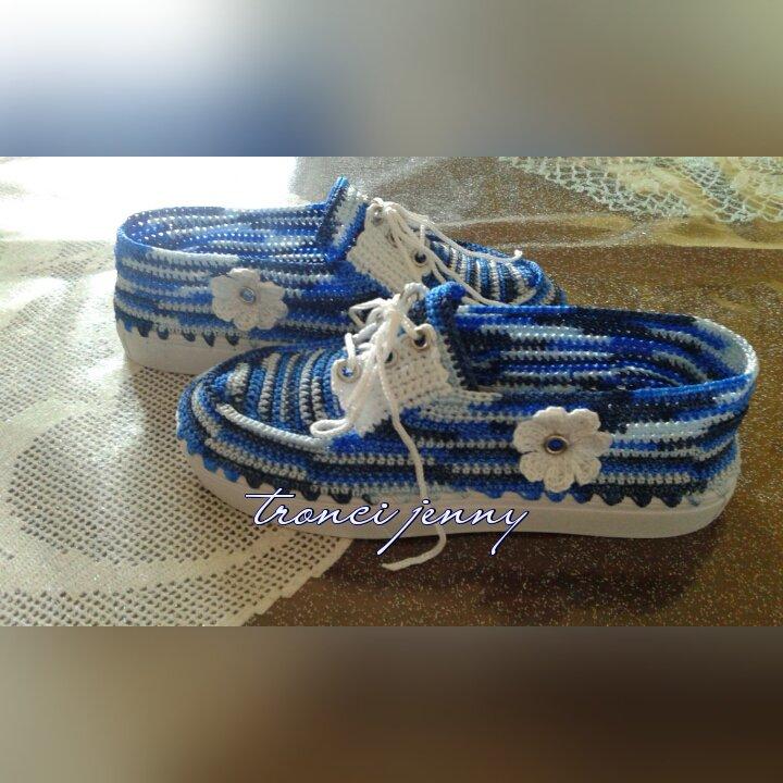scarpe ad uncinetto bimba