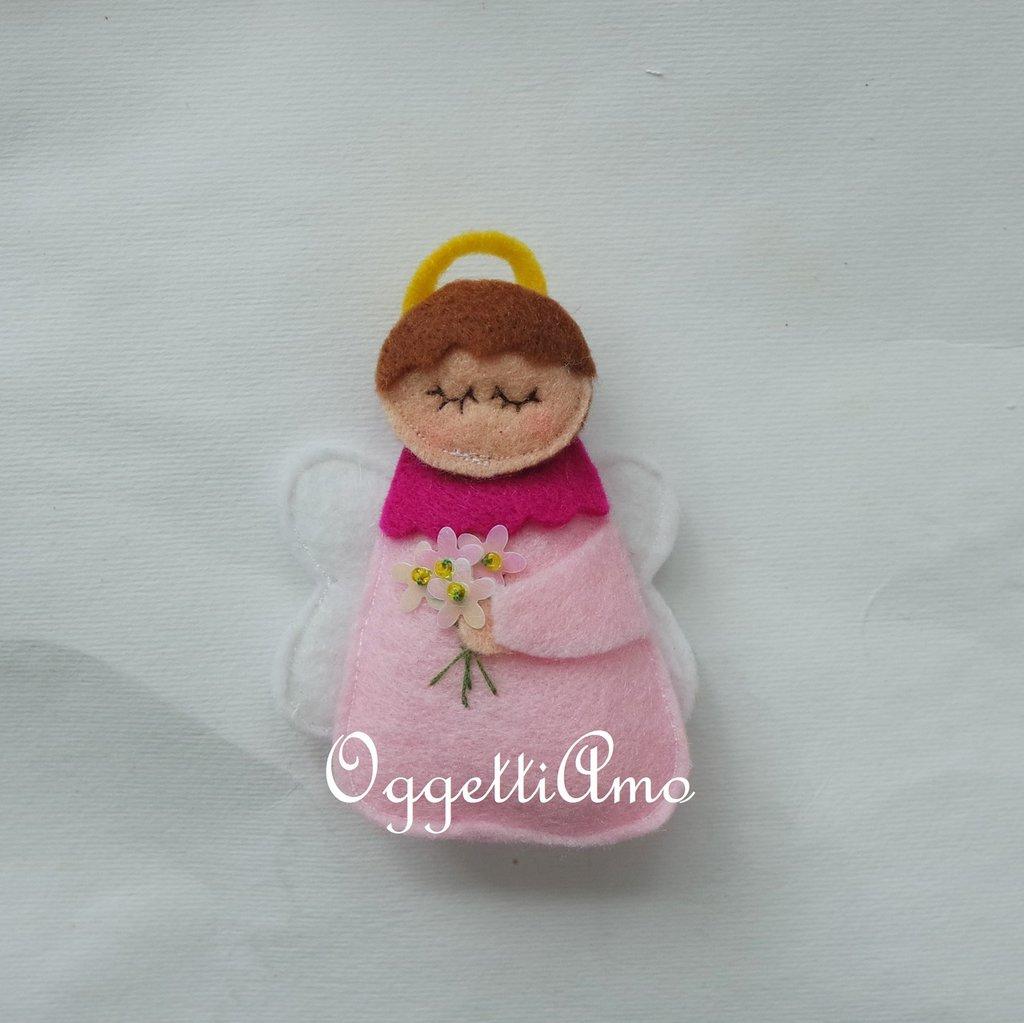 Angeli in feltro per calamite: bomboniere fatte a mano per il battesimo, comunione, cresima delle vostre bambine!