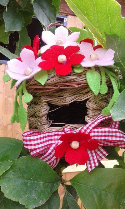 Casetta decorativa rossa