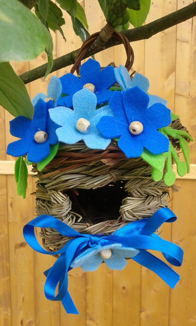 Casetta decorativa blu