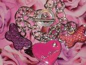 """bracciale farfalle e cuore """"tipo Louis Vuitton"""""""