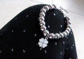 Bracciale moda con sfere con charm personalizzabili con tanti charm assortiti – bracciali handmade